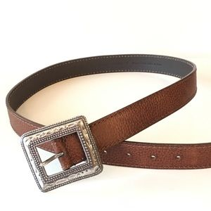 Chico's Brown Pebbled Leather Belt